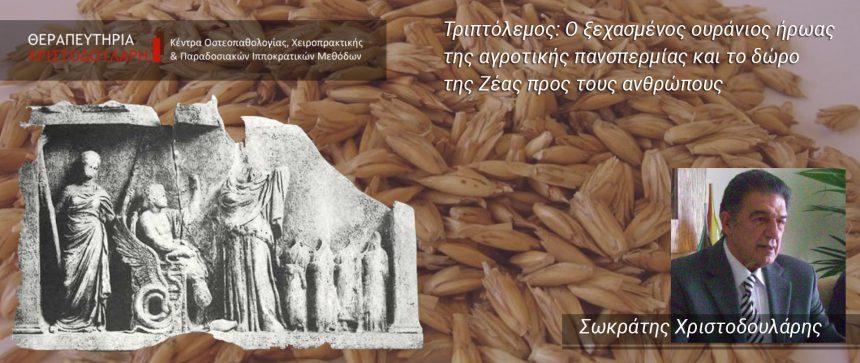 Τριπτόλεμος: Ο ξεχασμένος ουράνιος ήρωας της αγροτικής πανσπερμίας και το δώρο της Ζέας προς τους ανθρώπους